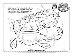 Dinosaur Train Coloring Pages DT SUB TURTLES BW 2 SUBMARINE