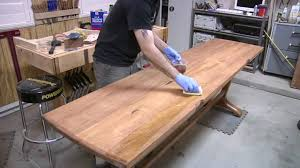 136 how to build a trestle table part 3 of 3 youtube