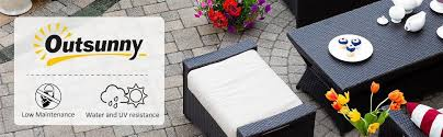 Outsunny Patio Furniture Assembly by Amazon Com Outsunny Modern 4 Piece Cushioned Outdoor Rattan