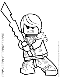 Ninjago Cole KX With Elemental Blade Coloring Page