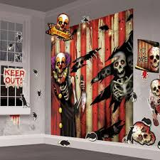Halloween Scene Setters 2017 by Creepy Carnival Wall Decorating Kit