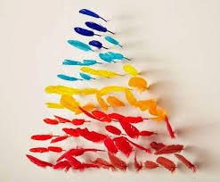 Multi Color Feather Wall Decoration