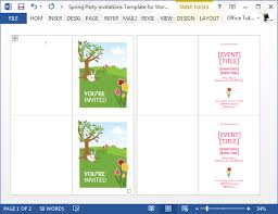 Free Halloween Invitation Templates Microsoft by Spring Party Invitation Template For Word