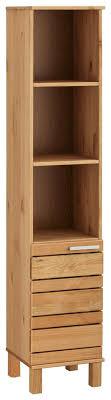 home affaire hochschrank josie breite 30 cm aus massivholz verstellbare einlegeböden metallgriffe 3 offene fächer 1 tür