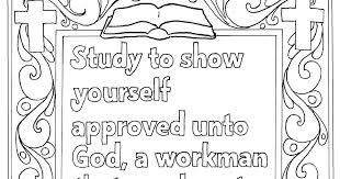 Coloring Pages For Kids By Mr Adron Printable 2 Timothy 315 Study To Show Yourself Approved Page
