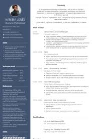 Csr Licensed Account Manager Resume Example