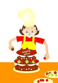 Download Cake Baker stock vector Illustration of fruit decoration