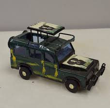 100 Safari Truck African Recycled Dark Green Tin Pop Up Roof