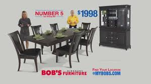 number 5 dining room set 999 bob s discount furniture youtube