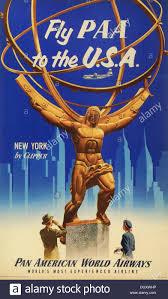 Pan American Airlines Vintage Travel Poster 1955