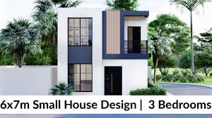 104 Housedesign 6x7 Meters Small House Design Idea With 3 Bedrooms Simple Design House
