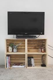 Check Out How To Build A Very Easy DIY TV Stand Form Wooden Crates Istandarddesign