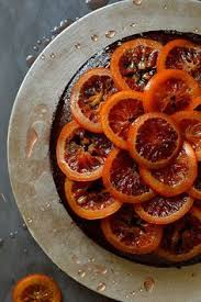 Chocolate Olive Oil And Rosemary Cake With Candied Blood Oranges