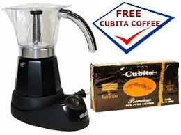 Get Quotations Electric Cuban Coffee Maker 6 Cups Free Pack