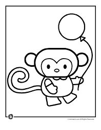 Cute Animal Coloring Page Monkey