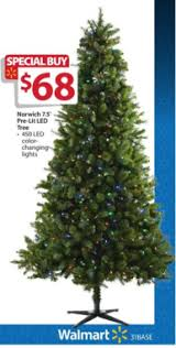 Walmart White Christmas Trees Pre Lit by Walmart Pre Lit 7 5 U2032 Norwich Spruce Christmas Tree W Color