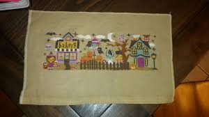 The Frosted Pumpkin Stitchery Facebook by Project 5 The Mysterious Halloween Town Club Coffee Stitcher U0027s