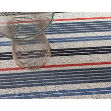 Chilewich Floor Mats Custom Size by Chilewich Mixed Stripe Shag Indoor Outdoor Floor Mat Chilewich