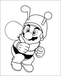 Bee Mario Colour In By Connolystudios2