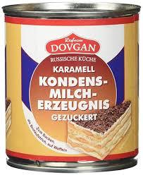 dovgan gezuckerte kondensmilch karamell 6 prozent fett 6er pack 6 x 397 g