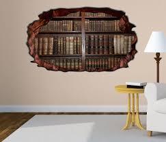 3d wandtattoo alte bücher buch regal antik bibliothek selbstklebend wandbild wohnzimmer wand aufkleber 11l155 3dwandtattoo24 de