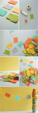 Handmade Cheap Fabric Scraps Bunting Diy Garland Tutorial With 34 Best How To Make Flowers From Paper And