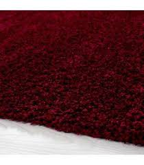 hochflor langflor wohnzimmer prime shaggy teppich florhöhe 3cm unifarbe rot