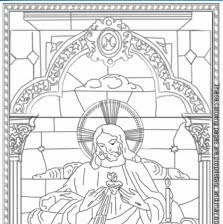 This Coloring Sheet Has The Sacred And Immaculate Hearts