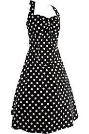 pinup rockabilly black and white polka dot halter dress at amazon