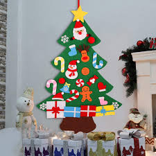 Amazoncom KEFAN 3ft Felt Christmas Tree Wall Hanging Christmas
