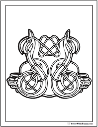 ColorWithFuzzy Celtic Coloring Pages Animals