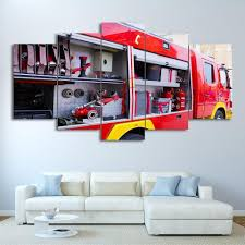 100 Fire Truck Wall Art 01 Automative Canvas Canvas Storm