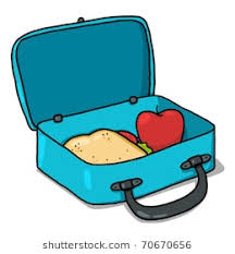 Lunch Box Illustration Open Lunchbox With Sandwich And An Apple