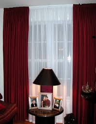 Yellow Black And Red Living Room Ideas by Adorable Design Ideas Using Cream Motif Loose Curtains And