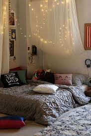Hanging The Lights Behind A Sheet Or Thin Curtain Helps Make Your Room Feel Less Like