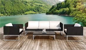 canapé de jardin design salon bas jardin design en resine tressee 5 places