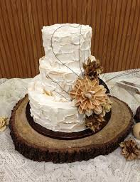 Wedding Cake Stand Wood Pics Does My Go With Rustic Theme Weddingbee 570 X