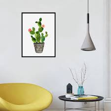 cactus 30x40cm sunwords rahmenlose kaktus aufhängen leinwand