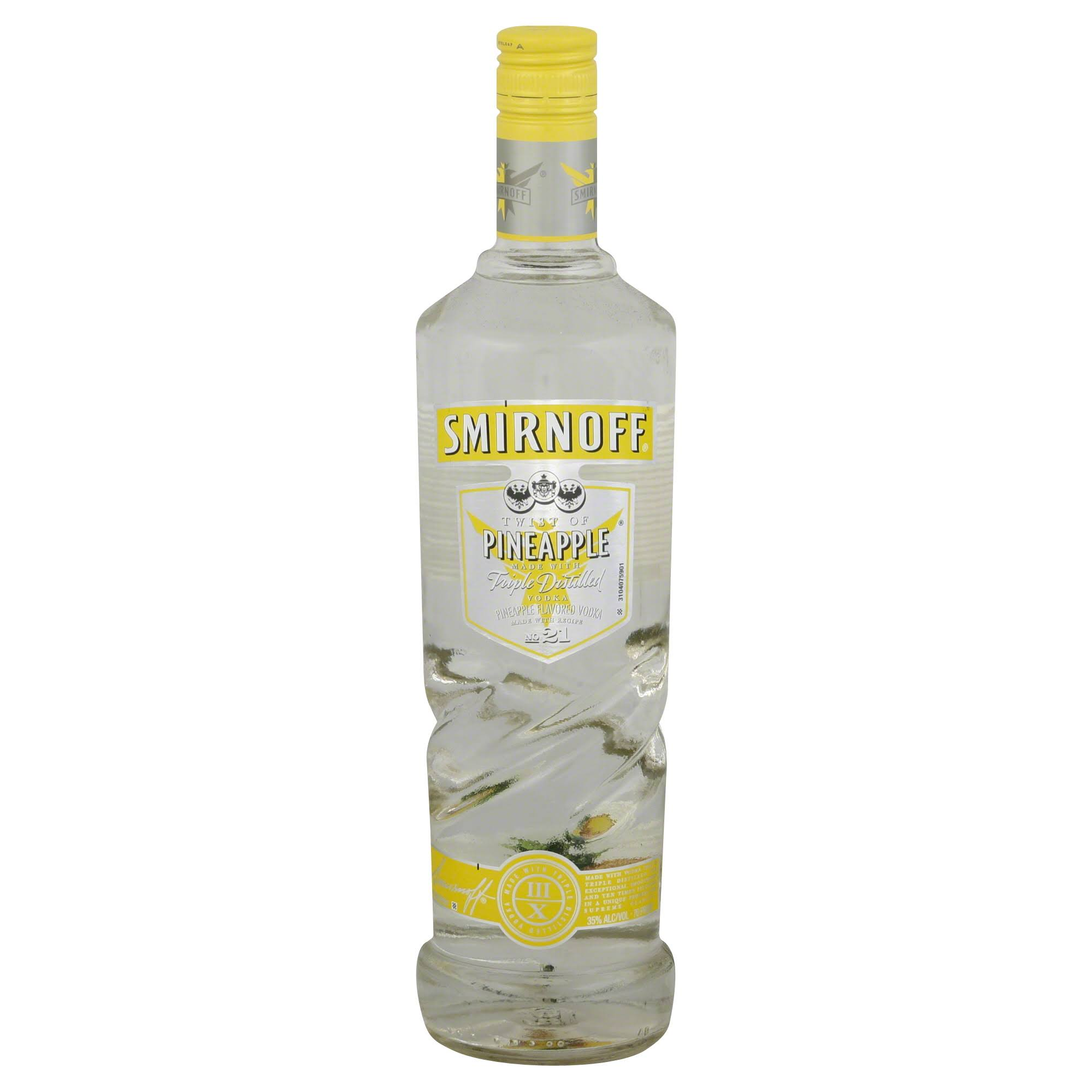 Smirnoff Vodka, Twist of Pineapple - 750 ml