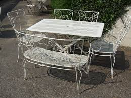 Vintage Wrought Iron Porch Furniture by G087 Vintage French Wrought Iron Patio Set