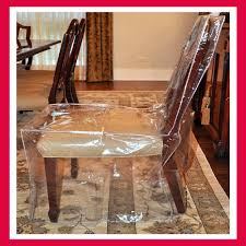 100 Heavy Wood Dining Room Chairs Seat Cover Furniture Protector Chair Duty Glass Clear Vinyl EBay