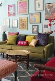 Jaipur Mirror Work Indian Footstool Purple 45x45x20cm