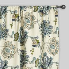 Jacobean Style Floral Curtains by Floral Tatiana Sleevetop Curtains Set Of 2 World Market
