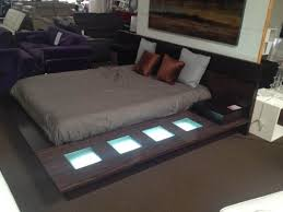 modern contemporary lacquer platform bed