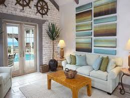 Living Room Cozy Cottage Style Ideas Awesome Beach With White And Brick Wall Indoor Plant Art