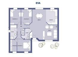 plan maison 90m2 plain pied 3 chambres plan maison 90m2 3 chambres 4 mod232le et plans dtt du plan
