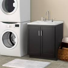 palermo 24 in laundry sink with cabinet faucet kit home depot