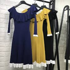 compare prices on women knitted dress online shopping buy low