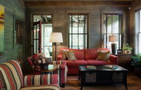Sumptuous Wicker Loveseat In Family Room Rustic With Decorating A Townhouse Next To Red Sofa Alongside Square