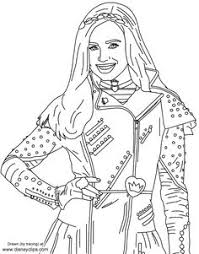 Descendants Wicked World Characters Coloring Sheet See More Evie From Disneys
